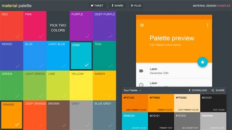 color design palette 4 tools for creating brilliant material design color pallets