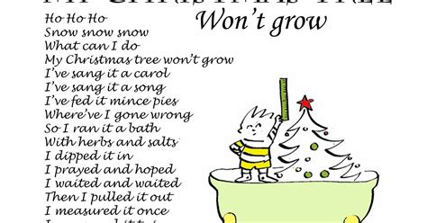 my christmas tree wont grow piddly poems my tree won t grow