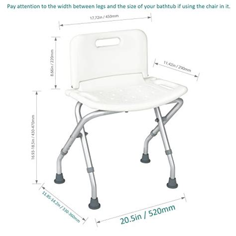 collapsible bathtub for adults jcmaster collapsible shower bench with back for adult portable bath seat with b ebay
