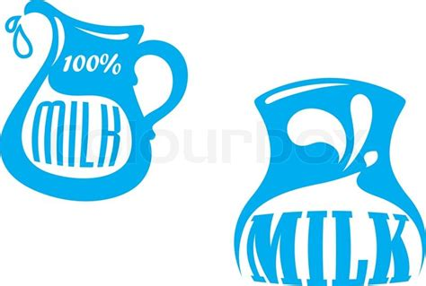 design milk wiki milk emblem or logo symbols with jug and text 100