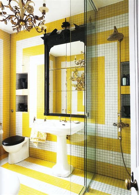 yellow tile bathroom ideas 37 sunny yellow bathroom design ideas digsdigs