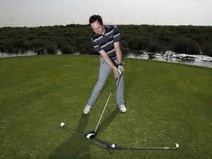 laid off golf swing what does being laid off mean in golf