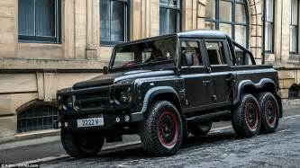 mercedes 6 wheel pickup land rover defender challenged kahn designs 6 wheel