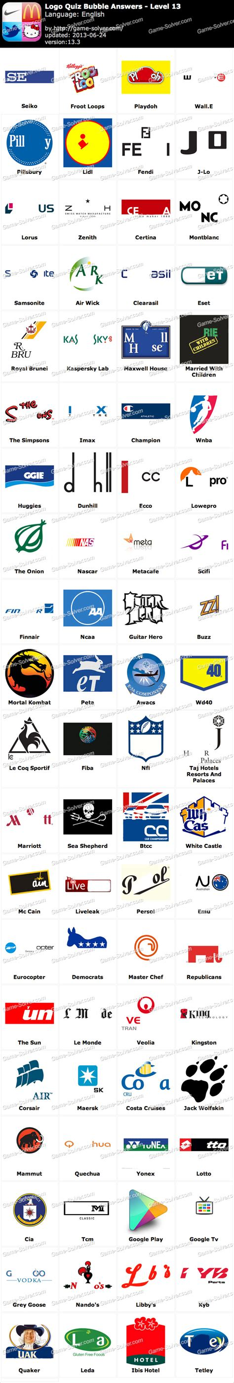 logo quiz answers level 13 clothing and apparel joy logo quiz by bubble answers level 13 game solver