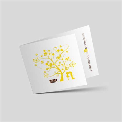 Hochzeitseinladung Gelb by Hochzeitseinladung Liebesbaum In Gelb