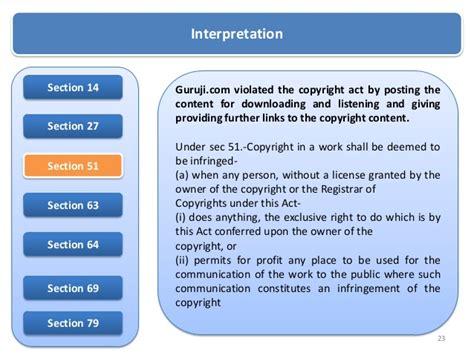 copyright act section 63 copyright infringement t series vs guruji com
