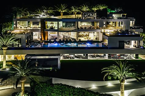 Pool House Bar by Bel Air Mansion With Car Collection Uncrate