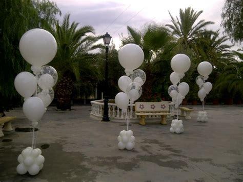 decoracion globos boda partyland ramos globos 1 columnas de globos blancos