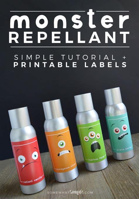 printable label for monster spray monster repellent tutorial printable labels somewhat
