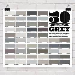 shades of gray color 50 shades of grey poster