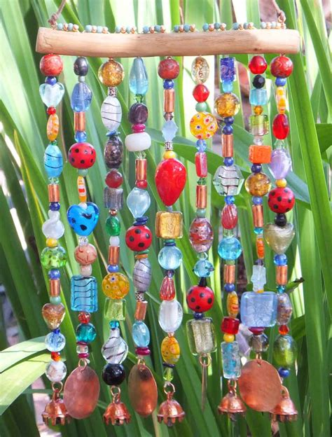 glass bead wind chimes glass beaded wind chime windchime sun catcher on