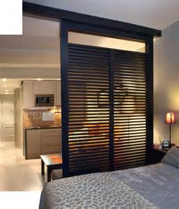 room divider for a studio apartment bedroom bliss