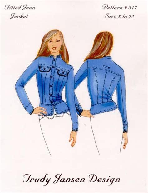 pattern jeans jacket womens denim jacket sewing pattern