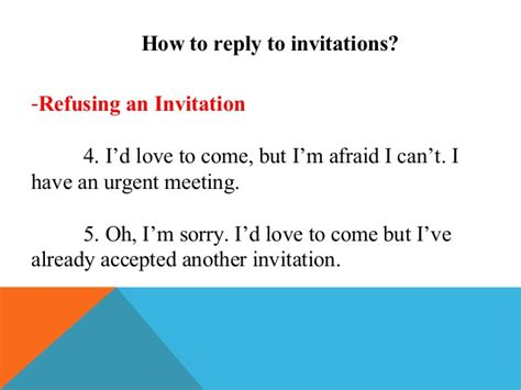 Invitation Letter Reply Sle Invitations And Replies To Invitations