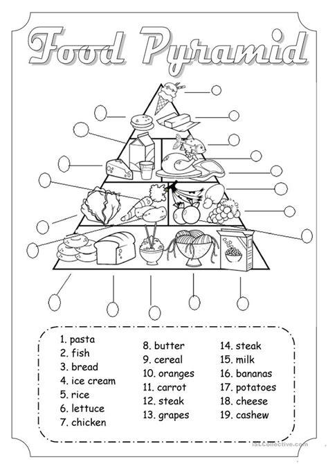 Food Pyramid Worksheet by Food Pyramid Worksheet Free Esl Printable Worksheets
