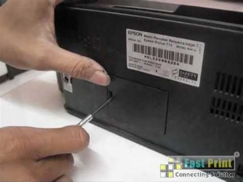 Printer Epson T13x Tinta Banyak tutorial memasang botol pembuangan epson t13 t13x mp4