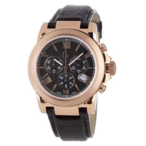 Gc Black Rosegold guess collection gc b2 class gold chronograph 42005g1