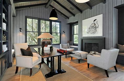 Home Office Ideas With Fireplace 40 Gorgeous Ideas For A Sizzling Home Office With Fireplace