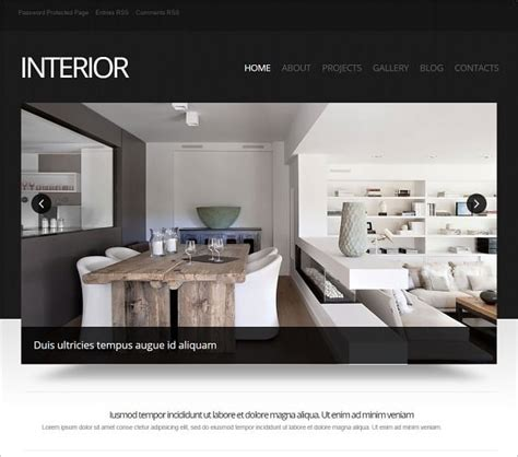 interior design website templates will spice up your