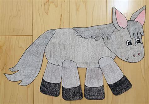 paper bag donkey pattern donkey paper craft