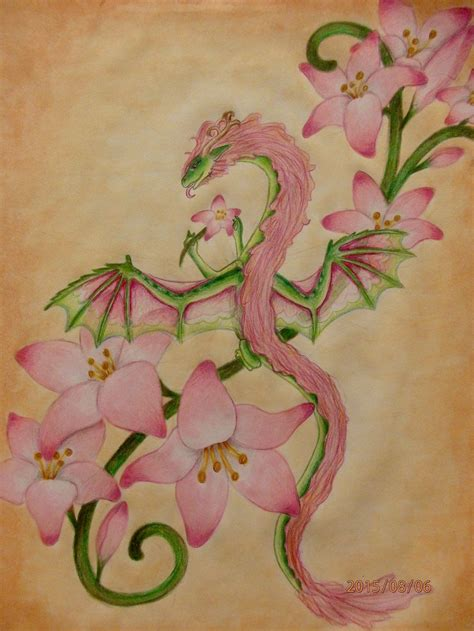 dragon and flower tattoo designs flower search dragons