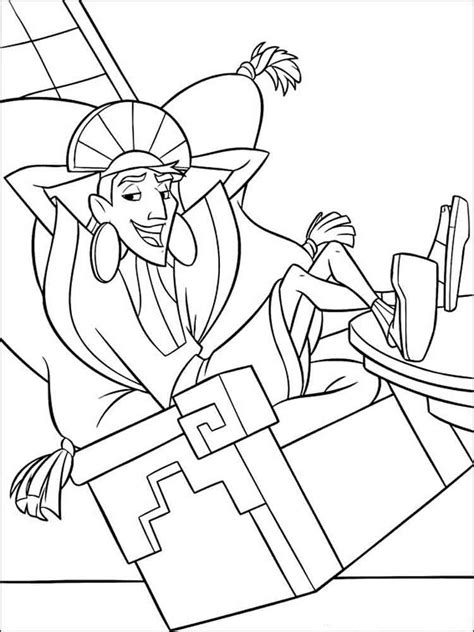 emperors  groove coloring pages