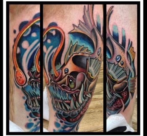 new school pisces tattoo new school angler fish tattoos pinterest schools