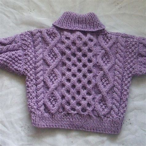 baby sweater knitting design aisling cable sweater for baby or toddler pdf knitting