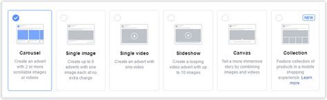 format video facebook ads facebook ad formats and placements how to use them