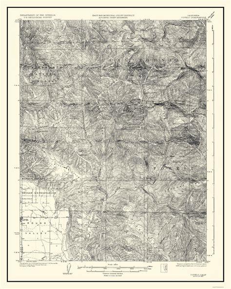california quadrangle map historical topographical maps covelo california