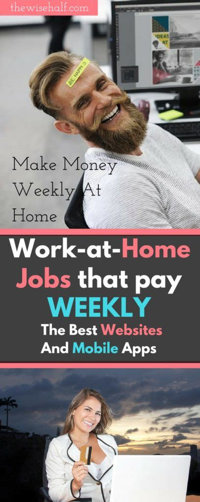 Online Work From Home Jobs That Pay Weekly - online jobs that pay weekly legitimate websites and mobile apps