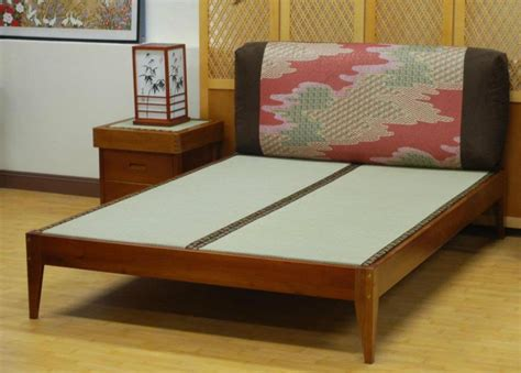 japanese bed mat tatami bed placed on the slat platform structure of the