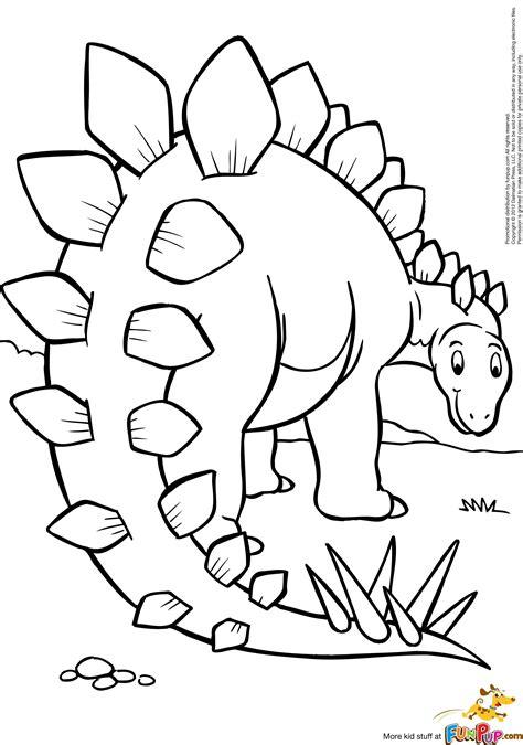 stegosaurus  coloring pages  kids dinosaur