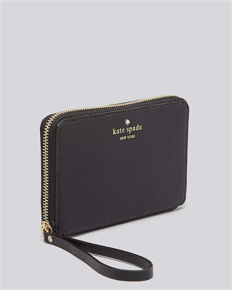 Kate Spade New Semprem lyst kate spade new york tech wristlet cherry laurie zip around in black