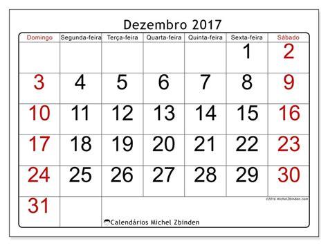 Calendario Dezembro Livre Calend 225 Rios Para Dezembro 2017 Para Imprimir