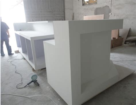 Reception Desk Materials Bending Material Cultured Marble Solid Surface Curved Reception Desk View Curved Reception Desk