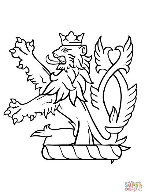 lion rant of scotland coloring page free printable