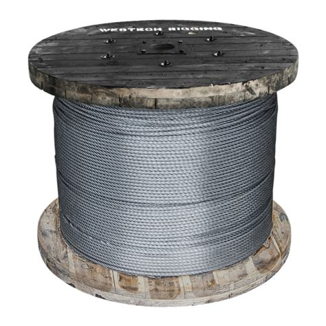 3 8 wire rope strength 3 8 quot x 1000 ft 6x26 swaged wire rope 20400 lbs breaking strength