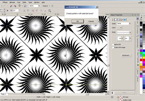 square pattern coreldraw corel draw tutorial seamless wallpaper design