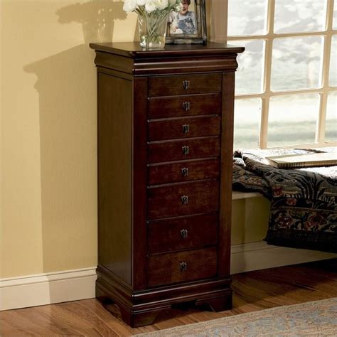 Jewelry Armoire Furniture by Powell Furniture Louis Philippe Marquis Cherry Jewelry