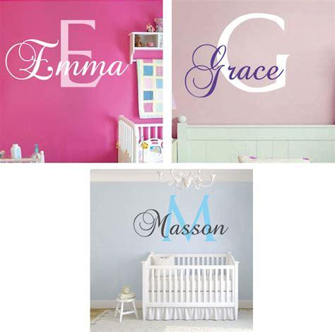 Nursery Monogram Wall Decal Trendy Wall Designs Monogram Wall Decals For Nursery