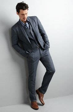 Mens Wedding Attire Vancouver by Im Liking The Striped Tie Grey Suit Brown Shoes Navy