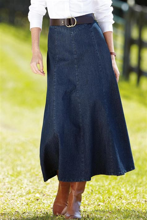 16 best denim skirts to wear with boots images on