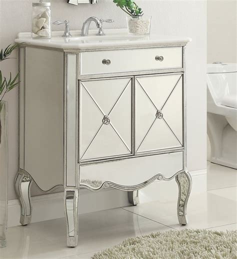 mirrored bath vanity 30 quot mirror reflection adelisa bathroom sink vanity