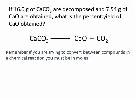 theoretical actual and percent yield problems chemistry