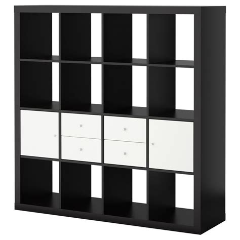ikea cubbies expedit storage combination w doors drawers birch black
