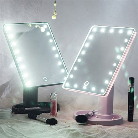 light up cosmetic mirror 22 led touch screen makeup mirror tabletop cosmetic vanity