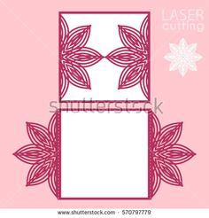 Greeting Card Cut Out Templates For Cricut by Laser Cut Wedding Invitation Frame Card Template 5x7