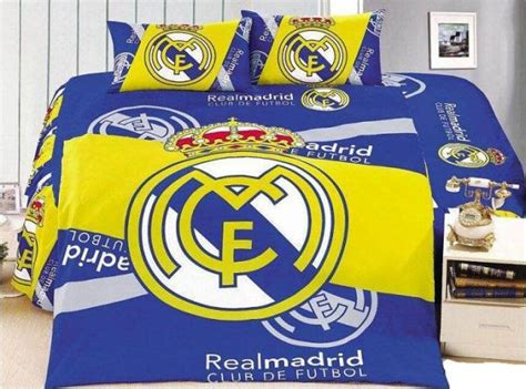 Real Madrid Bed Set 3 Pcs Cotton Real Madrid Bedding Set Duvet Cover Sheet Pillow Bedspread Bed Sheets Price