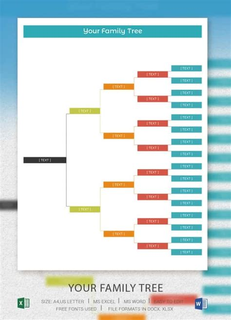 free family tree template excel family tree template excel calendar monthly printable